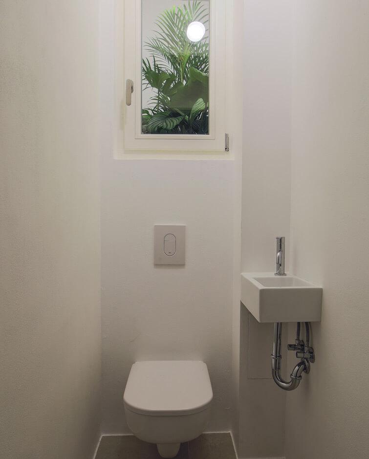 Rekonstrukce domu Praha, Anděl - toaleta