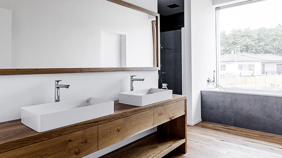 Dřevěná koupelna - rodinný dům na klíč