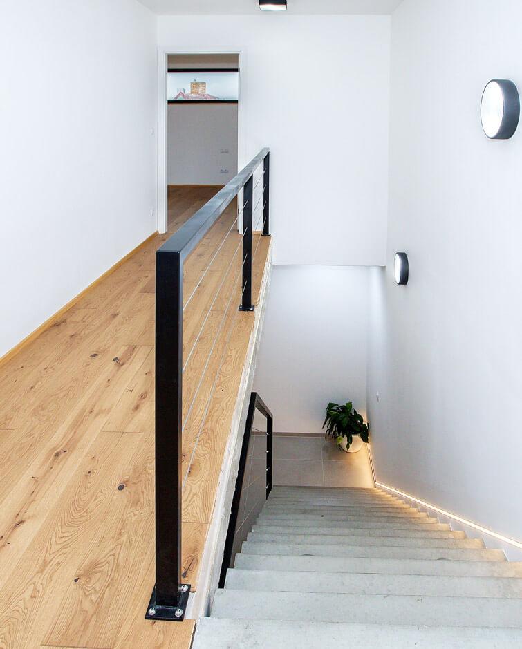 Stavba rodinného domu - Počernice - schodiště