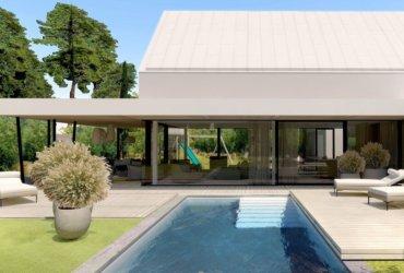 stavba moderního rodinného domu